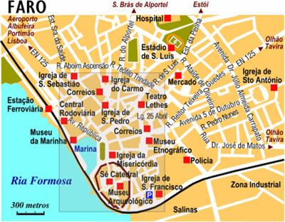 Cartina Di Portogallo.Mappa Faro Cartina Di Faro