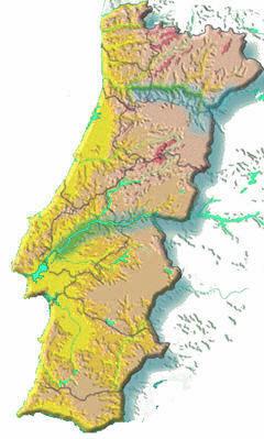 Portogallo Fisica Cartina.Geografia Fisica Portogallo