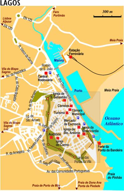 Cartina Di Portogallo.Mappa Lagos Cartina Di Lagos In Portogallo