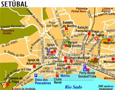 Cartina Di Portogallo.Mappa Setubal Cartina Di Setubal In Portogallo